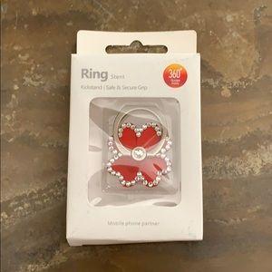 Flower Bling Ring Hook/Kickstand For Cell Phone